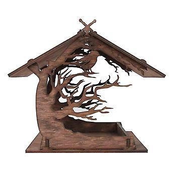 Vintage Wood Attractive Wooden Birdhouse Bird Feeder Outdoor Garden Decoration  Jaulas y nidos de aves