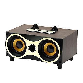 مكبر صوت سطح المكتب اللاسلكي المحمول مضخم الصوت ستيريو سماعات بلوتوث دعم مكبرات الصوت (الماهوجني)