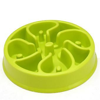 المحمولة الكلب تغذية أغذية السلطانيات جرو تبطئ الأكل المغذية طبق الأمعاء الكلب اللوازم (#02 الأخضر)