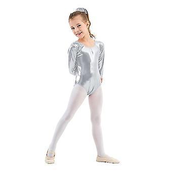 Fete Balet Leotards, Gimnastică Cu mânecă lungă Dance Wear