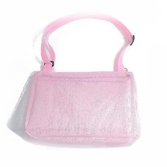 Kids Shell Collecting Bag Beach Sand Toy Totes(Pink)