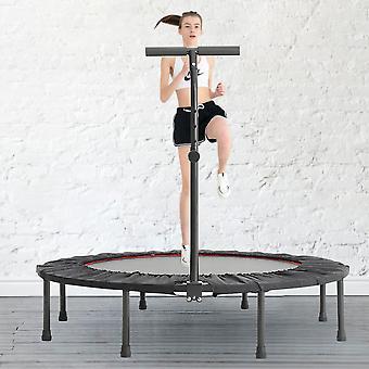 Trampoline d'entraînement de fitness pliable de 48 pouces avec poignée réglable