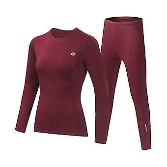 Men-women Thermal Underwear Set. Winter Quick-drying Warm Tights Fitness