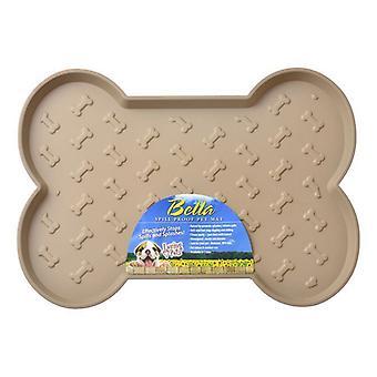 """Loving Pets Bella Spill-Proof Dog Mat - Tan - Small (18.25""""L x 13.25""""W)"""