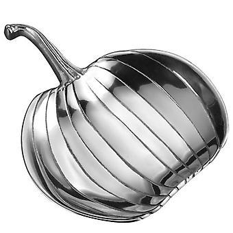 Shiny Silver Pumpkin Serving Dish