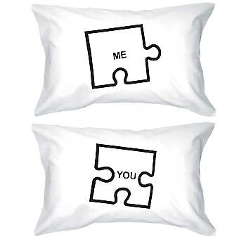 Morsomme grafiske Pillowcases Standard størrelse 20 x 31 - Puzzle Design