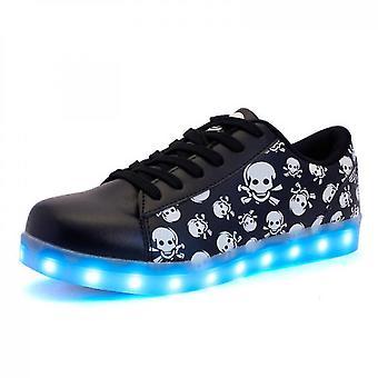 Usb töltés Light Up Shoes Sport Led cipő Táncoló cipők(41)
