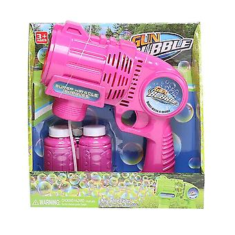Große elektrische Blasenpistole Wasserblase Spielzeug Blasen Seife Blasengebläse Neue Spielzeuge (Pink)