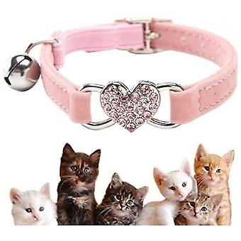 Cute Kitten Collar With Bells And Elastic Band