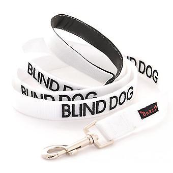 Pet leashes blind dog dog has limited/no sight white warning dog colour coded luxury padded personalised 1.2M