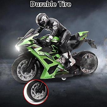 Remote control motorcycles remote control stunt motorbike 360 degree rotation drift car racing motorcycle toy model green
