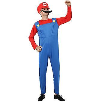 Homemiyn Super Mario Cosplay Kostüm für Halloween Weihnachtsmaske (L)