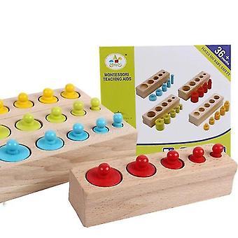 Montessori vzdělávací válce pro děti 3+(Válec)(Multicolor)