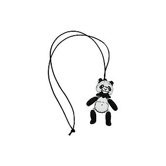 Necklace Black-white Panda Black Cord 90cm 45665 45665 45665