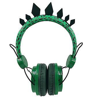 Chłopiec Słuchawki Jurassic Dinosaur 3.5mm Przewodowe słuchawki z mikrofonem nadaje się do nauki gry słuchawki telefon komórkowy Cute