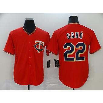 Mens Baseball Jersey Twins 34 Kirby Puckett 22 Miguel Sano Player Jersey Game Fans Sports Baseball Uniforms T-shirt Size S-xxxl
