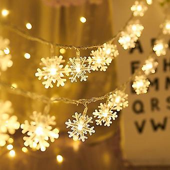 1m 10led Snowflake Led Light Christmas Decor For Home Hanging Garland Christmas Ornaments Xmas Tree