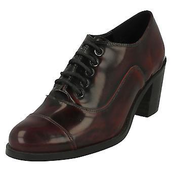 Ladies flekk på blokkerte hæl sko