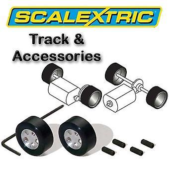 Scalextric Accessori - Classic Pack di 2 mozzi & pneumatici