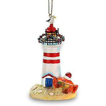 Cape Shore kust strand krab vuurtoren kerst Ornament hars