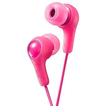 JVC Gumy Plus In Ear Earbuds Earphone Headphones - Pink (Model No. HAFX7P)