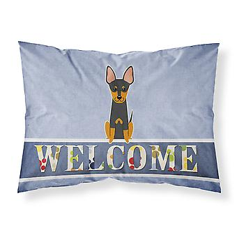 English Toy Terrier Welcome Fabric Standard Pillowcase