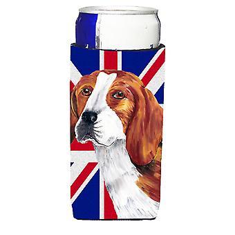 Beagle mit englischen Union Jack britische Flagge Ultra Getränke Isolatoren für schlanke c