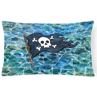 Carolines Treasures  BB5342PW1216 Pirate Flag Canvas Fabric Decorative Pillow