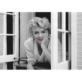 Marilyn Monroe vaaleanpunainen huulet NYC 1954 Juliste Tulosta Sam Shaw (32 x 24)