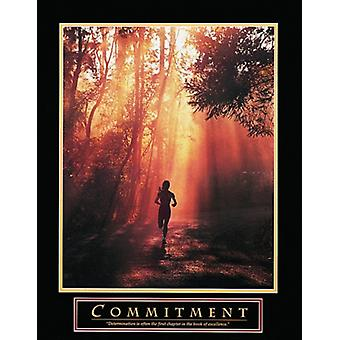 Commitment - Runner Poster Print (22 x 28)