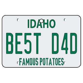 Idaho - Best Dad License Plate Car Air Freshener