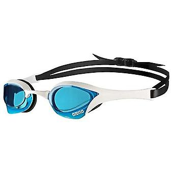 Arena Cobra Ultra Swim Goggle-Blue Lens-White/Black Frame