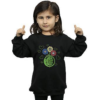 Marvel Girls Hulk Flower Fist Sweatshirt