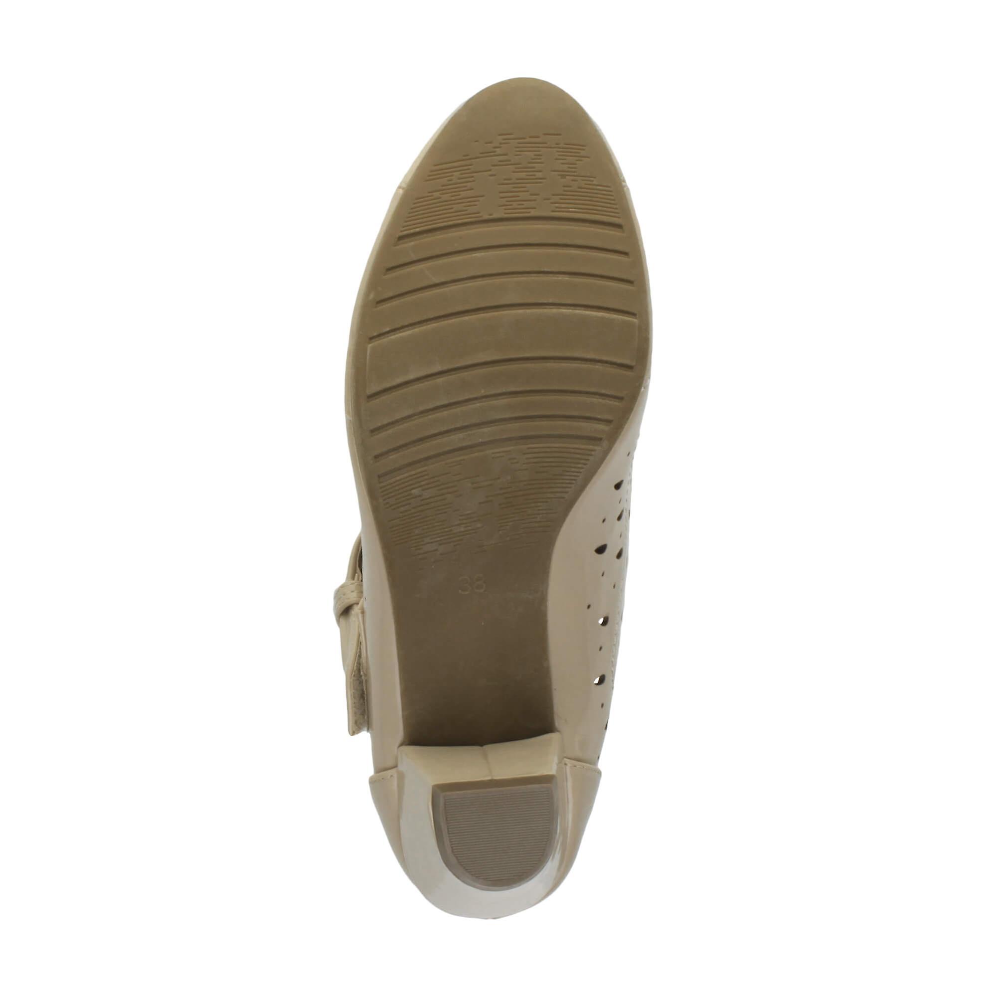 Ajvani womens mid laag blok hak mary jane T-bar haak & lus Sarto comfort rubber enige Hof schoenen sandalen - Gratis verzending dwi1j2