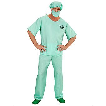 Urgentologue (chemise pantalon chapeau masque)