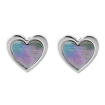 Orphelia Silver 925 Earring Heart Mop  ZO-7168