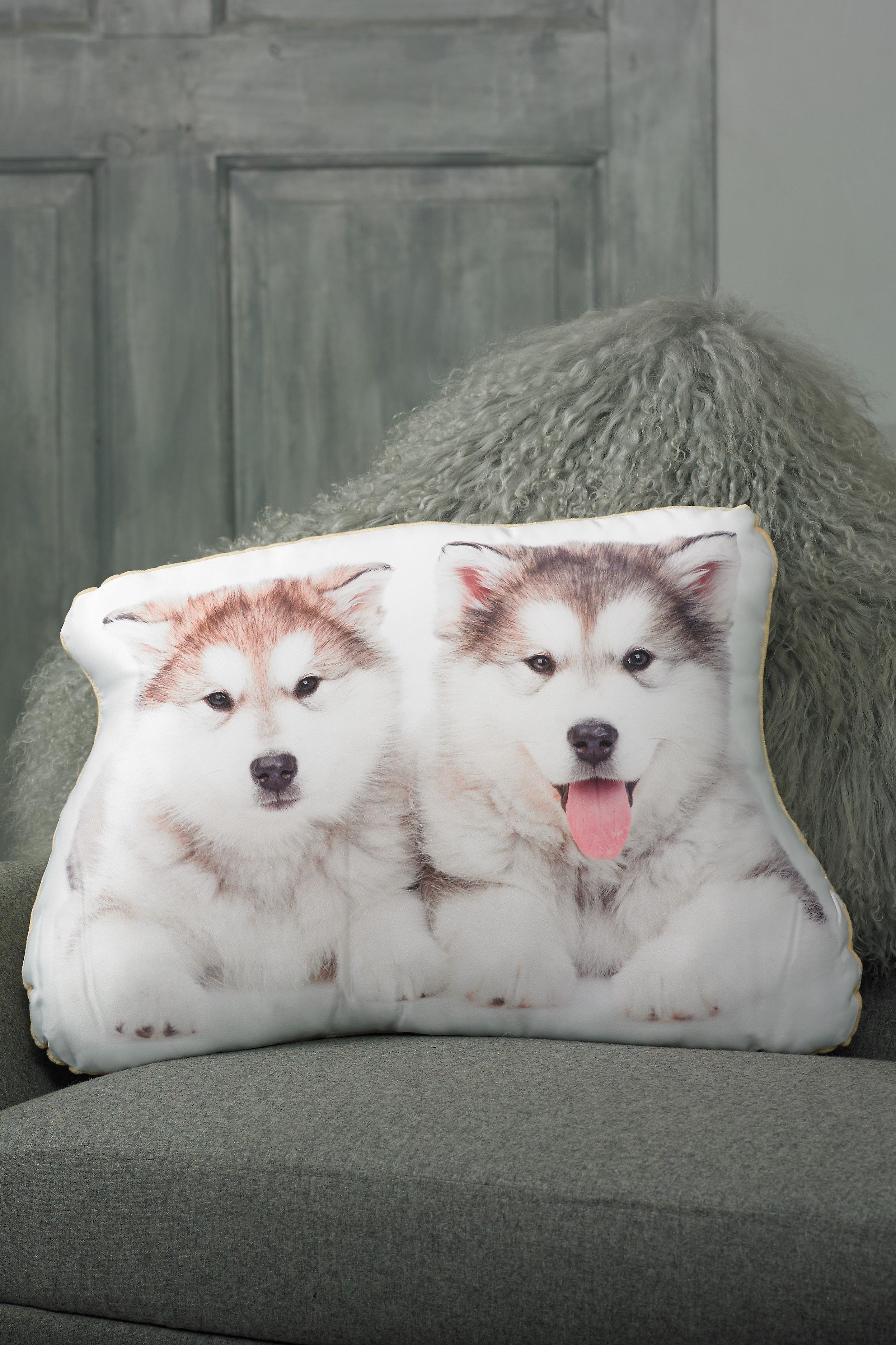 Adorable alaskan malamute shaped cushion