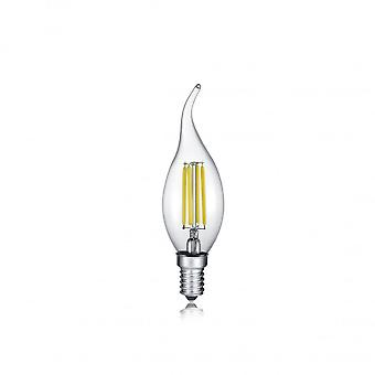Trio Lighting Bent Tip Candle Modern Transparent Clear Glass Light Source