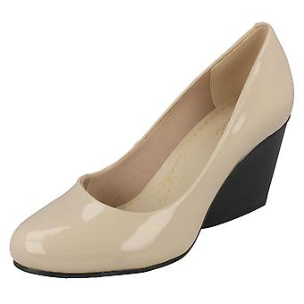 Ladies Clarks Smart Wedge Shoes Demerara Spice