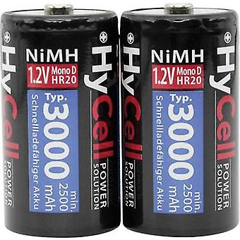HyCell HR20 D battery (rechargeable) NiMH 3000 mAh 1.2 V 2 pc(s)