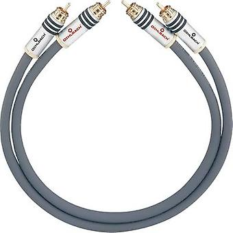 RCA Audio/Phono-kabel [2x RCA-kontakt (Phono)-2x RCA-kontakt (Phono)] 3,75 m antracit guldpläterade kontakter Oehlbach NF 14 MASTER