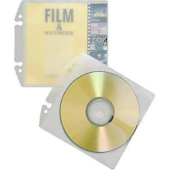 Durable CD/DVD punched pocket 1 CD/DVD/Blu-Ray PP Transparent 10 pc(s) 522319