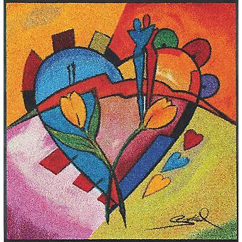 amour équilibré II 85 x 85 cm tapis lavables d'Alfred Gockel