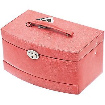 Smycken box smycken box smycken box spegel i rosa med resefodral