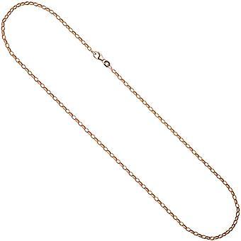 Anker ketting 925 ketting roze goud zilver goud vergulde 45 cm ketting ketting karabijnhaak