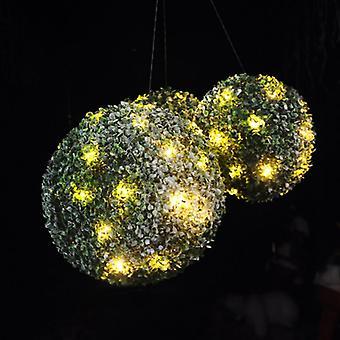 3 x Kingfisher Effekt Formschnitt Schneekugeln mit Warm weißen LED-Leuchten & Schnee-Effekt