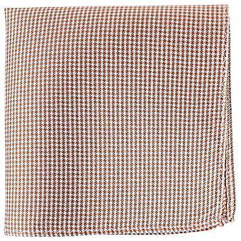 Knightsbridge Neckwear überprüft Seide Stecktuch - Orange/weiß/schwarz