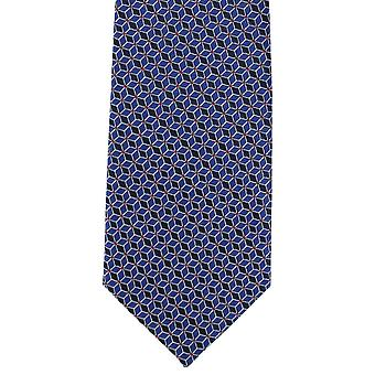 Michelsons Lontoo yhteenkytkennän Geo Polyester Tie - sininen