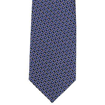 Michelsons af London sammenkobling Geo Polyester slips - blå
