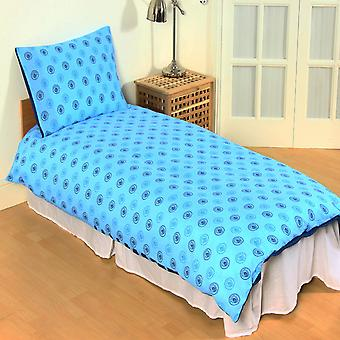 Manchester City FC Official Reversible Pulse Single Duvet Set